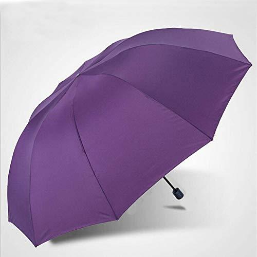 HMKLDFTY 152Cm Gran Golf Umbrella Rain Mujeres a Prueba de Viento Paraguas Plegable Grande Hombres Negocios Paraguas Dobles Uby28, púrpura