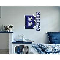 Navy blu iniziale nome personalizzato Wall D ¨ ¦ Cor Art decalcomania da parete per ragazzi da parete in vinile per cameretta