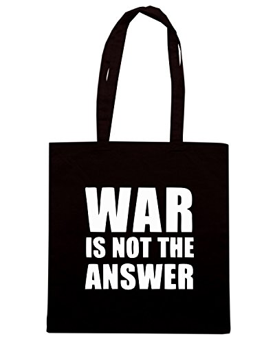 T-Shirtshock - Borsa Shopping TM0464 war is not the answer Nero
