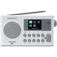 Roberts Radio Stream 107 Portable DAB/DAB+/FM/Wi-Fi Internet Radio with Media Streaming - White