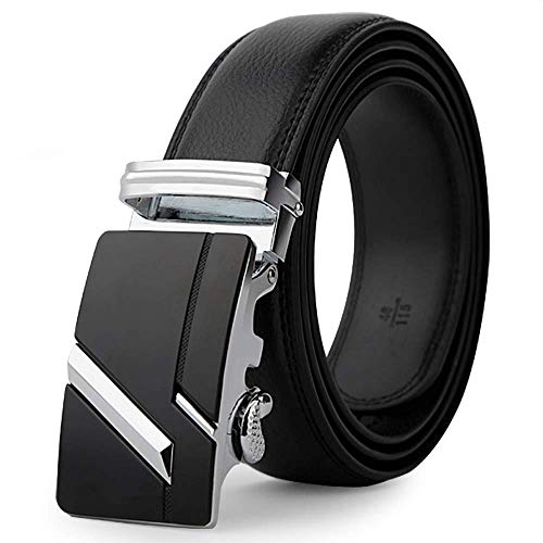New Fashion Automatic Buckle Male Genuine Leather Strap Designer Belts Men Girdle Wide