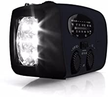 outerdo Mini portátil Cargador Solar Radio solar Radio con LED claro linterna dinamo Radio AM/FM/WB funda emergencia Power Banco