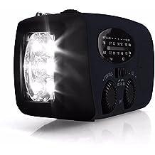 Radiolina Portatile Digitale Solare LED Mini Radio AM / FM / WB Caricatore Solare Radio con Torcia Tlettrica Luminosa Mobile di Emergenza della Banca di Potere - OUTERDO
