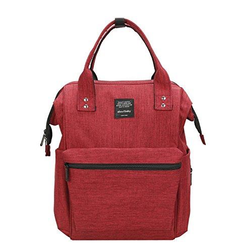 Große Kapazität Windel Windel Mama Tasche Tote Mutterschaft Baby Care Reisen Rucksack Krankenpflege Tasche -Red (Krankenpflege Tote Taschen)