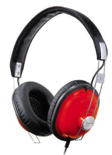 RP-HTX7AE-R Cuffia, Design Vintage, Unità Drive di Neodimio, Risposta in Frequenza 7 Hz - 22 kHz, Rosso