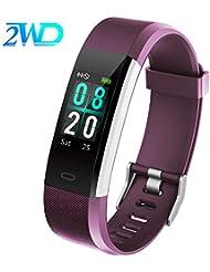 2WD Reloj Inteligente para Mujer/Hombre Pulsera Actividad Smartwatch,Pulsera Impermeable de la Pantalla