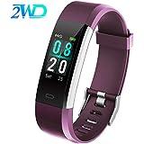 2WD Reloj Inteligente para Mujer/Hombre Pulsera Actividad Smartwatch,Pulsera Impermeable de la Pantalla Táctil.