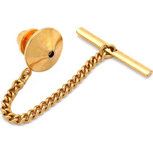 Generic vergoldet Pin Rückseite mit Krawattennadel Kupplung Kette Neu