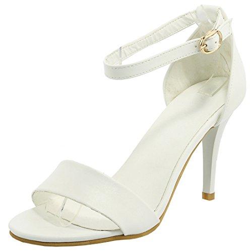 Agodor Damen High Heels Sandalen mit Riemchen und Stiletto Ankle Strap Pumps Sommer Offen Schuhe