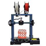 GEEETECH A10M stampante 3D con supporto per due colori, doppio estrusore, sensore per il controllo del filamente e sistema di recupero stampa, tutto in un kit DIY facile da ssemblare.