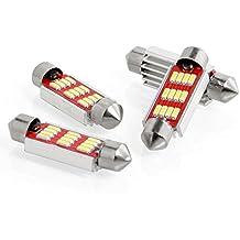 Neuftech 4x 4014 SMD 41mm 12 LED bombillas de coche C5W /C10W DC 12V CANBUS-Blanco
