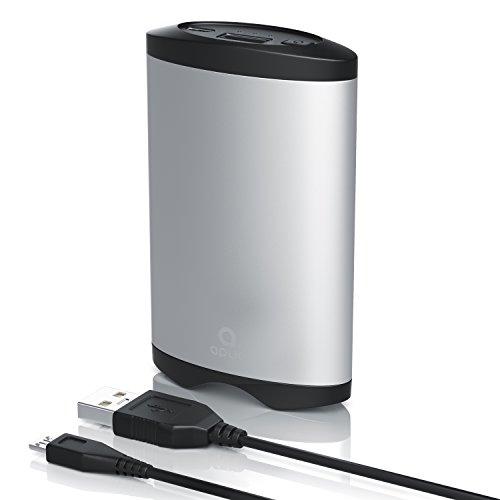 CSL - 2in1 Handwärmer mit Powerbank Funktion | Taschenwärmer / 2 Temperaturwärmestufen | externer Handyakku mit 5200mAh / wiederaufladbar über USB | robustes Aluminiumgehäuse