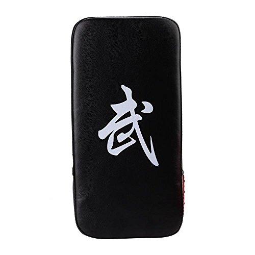 Almohadilla de Objetivo de Boxeo Durable Cuero de la PU Muay Thai MMA Martial Art Foot Hand Target Pad de perforación para el Entrenamiento de Karate de Boxeo(Black)