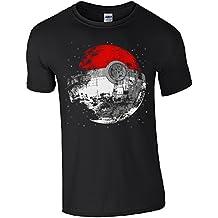 Camiseta con diseño de Pokeball y Estrella de la muerte