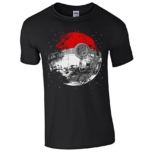 Death Star Pokeball maglietta unisex Black X-Large