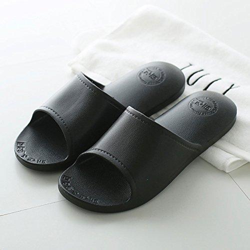 DogHaccd pantofole,Il bagno pantofole estate donna terreno morbido e insapore coppie soggiorno anti-slittamento bagno interni pavimentazioni e deodorazione cool pantofole, usura Nero2