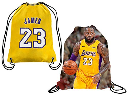 Majestic Intersport James Style Basketball Rucksack mit Kordelzug für Cleveland James Basketball-Fans, rot, Drawstring Backpack