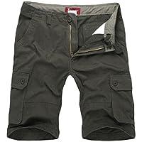 NiSeng Uomo Estate Pantaloni corti Vintage Shorts - Bermuda Cargo short con tasconi laterali