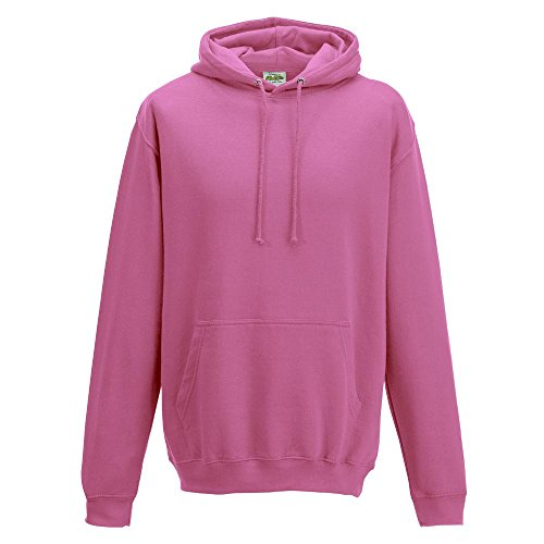 Just Hoods College Hoodie Candyfloss Pink
