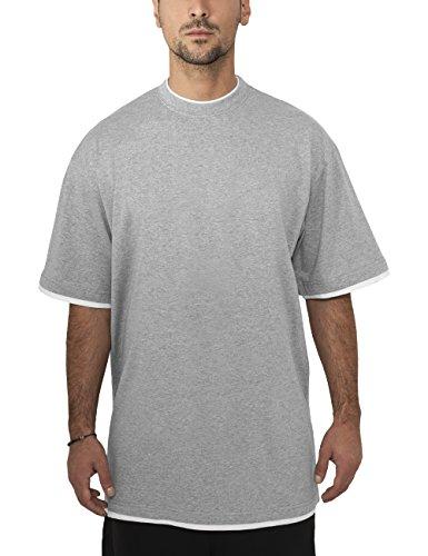 Urban Classics Bekleidung Contrast Tall Tee-T-shirt Uomo, Grigio (Grau), Large (Taglia Produttore: Large)