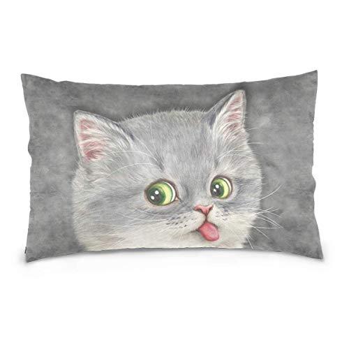 Throw Kissenbezüge Blue White Wave Cushion Covers with Square Pillowcases Soft Microfiber for Sofa Euro Pillow Shams -