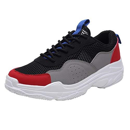 CUTUDE Sneaker da uomo, scarpe da ginnastica casual, paio di scarpe da corsa, assorbimento degli urti, traspiranti, taglia 48, da uomo, mesh, leggere, comode scarpe da ginnastica, Grigio (Grau), 36 EU