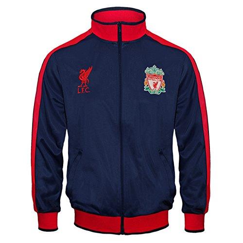 Liverpool FC - Chaqueta de entrenamiento oficial - Para niño - Estilo retro - Azul marino - 12-13 años (XLN)