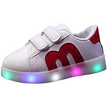 Calzado deportivo para bebés, ❤️ Manadlian Niño emisores de luces LED zapatos casuales zapatos de piel brillante niños y niñas de calzado deportivo de moda