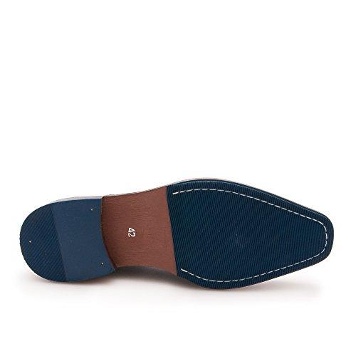 Zerimar Scarpe Da Uomo In Pelle Scarpe Comode Con Suola In Gomma Flessibile Scarpe Casual In Pelle Per Uomo Scarpe In Pelle Di Alta Qualità Elegante 100% Pelle Colore Nero50