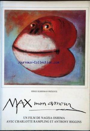 Max Mon Amour - PLAQUETTE FILM - MAX MON AMOUR -