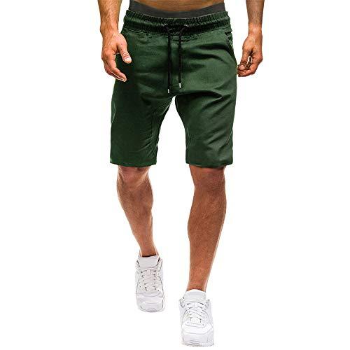 Aiserkly Herren Sommer Elastic Jogging Hosen Solide Baggy Pockets Kurze Arbeitshose Cargo Shorts Hose -
