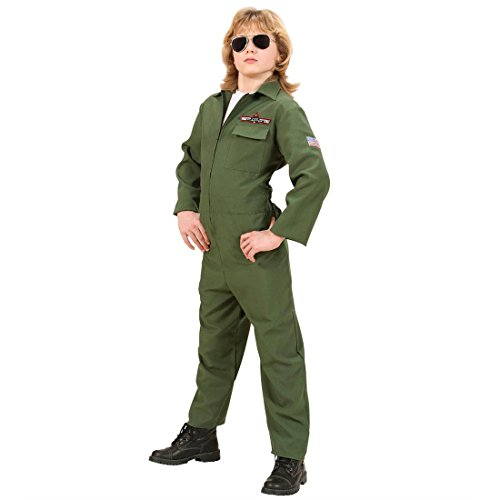 Kinder Fasching Kostüm Pilot Kinderkostüm Jetpilot Fliegerkostüm Pilotenkostüm Fasching Karneval 158 (Zubehör Kostüme Pilot)