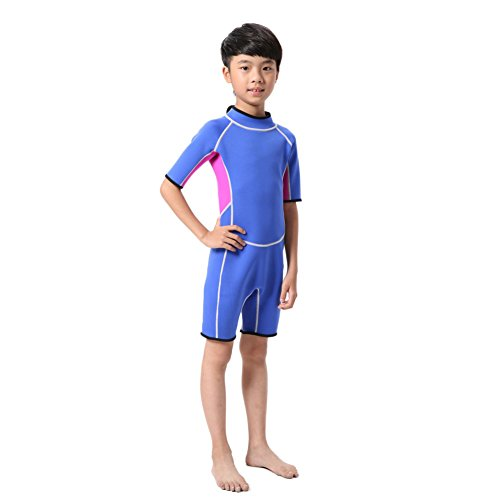 Hougood Kinder Bademode Kurzarm Neoprenanzug Overall Wasserski Kleidung Professionelle Surfen Kleidung Alter 2-14 Jahre
