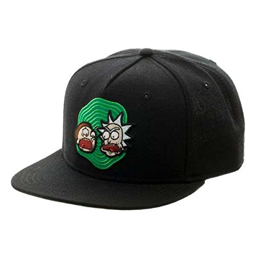BioWorld - Sombrero snapback Rick and Morty para adultos, negro