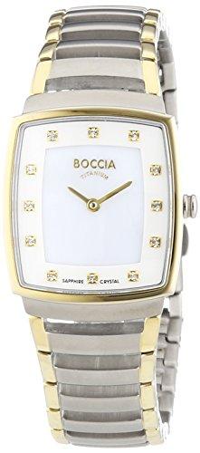 Boccia Damen-Armbanduhr Analog Quarz Titan 3241-02