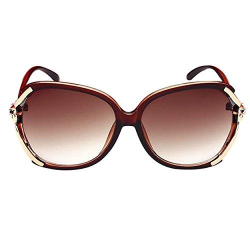 Mode Große Metall-gerahmte Brille Farbe 3,BrownBox-AllCode