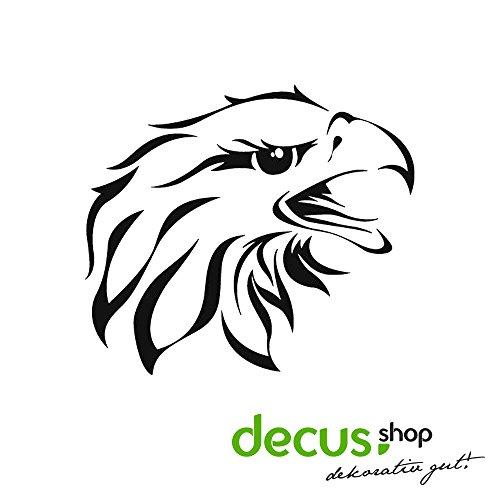 Preisvergleich Produktbild Eagle Head Adler // Sticker OEM JDM Style Aufkleber (Carbon Silber)