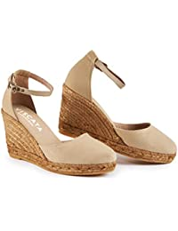 Viscata Barcelona Viscata Estartit Elegant Comfort, Canvas, Ankle-Strap, Closed Toe,