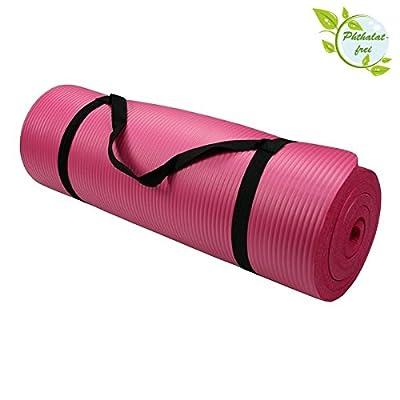 YOGAMATTE Pilates Gymnastik Fitness Camping Yoga PHTHALATFREI versch. Größen/Farben