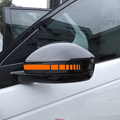 Autodomy Rückspiegel Aufkleber Auto mit Streifen Design Stripes Platz Packet mit 6 Einheiten mit unterschiedlichen Breiten für das Auto (Orange) -