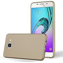 Cadorabo - Ultra Slim TPU Gel (silicone) Coque Métallique Mat pour Samsung Galaxy A3 (6) - Modèle 2016 - Housse Case Cover Bumper en METALLIC-OR