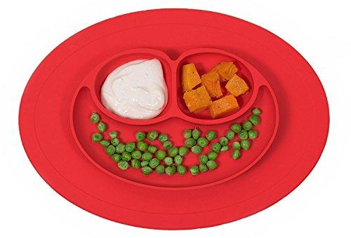 Joyoldelf silicona de grado alimenticio mantel individual–3compartimentos, Baby Alimentación placa Mat bandeja...