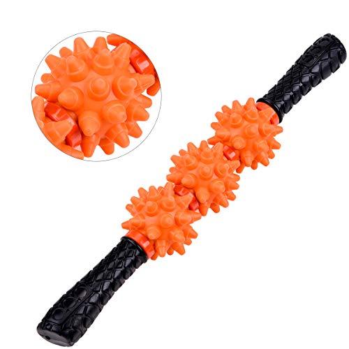 IREGRO Massageroller Muskel Massage Roller Massage Stick lindert Muskelkater, verbessert die Beweglichkeit und Durchblutung