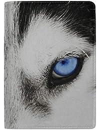 Divertido Close-up Husky Siberiano Bloqueo Estuche de la Cubierta del Soporte del Pasaporte de