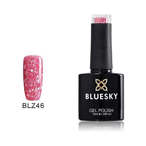Bluesky UV LED Gel auflösbarer Nagellack 10ml daddy\'s girl glitter blz, 1er Pack (1 x 10 ml)
