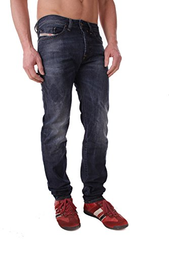 Diesel Buster 0831Q Hommes Jeans Slim Regular fuselé (W27/L30, Bleu)