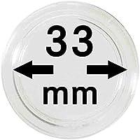 Lindner 2250033P Cápsulas para monedas-paquete de 10