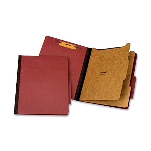 Classification Folder, 2 Partitions, Letter, Red, Sold as 1 Each