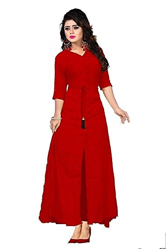 SK Fashion Women's Rayon Unstitched Dress Material (Maroon)