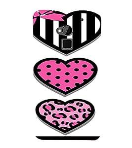 PrintVisa Cute Hearts Art 3D Hard Polycarbonate Designer Back Case Cover for HTC One Max